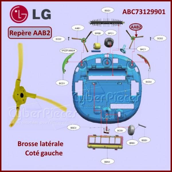 Brosse coté gauche aspirateur robot LG ABC73129901
