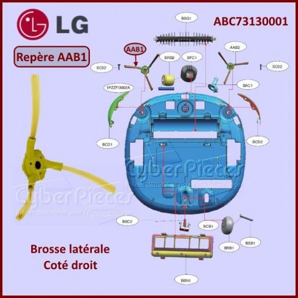 Brosse coté droit aspirateur robot LG ABC73130001