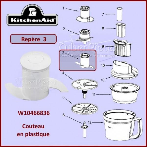 Couteau plastique kitchenaid W10466836