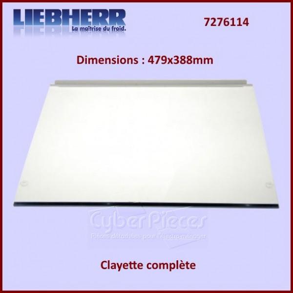 Clayette en verre de réfrigérateur Liebherr 7276114