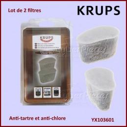 Lot de 2 filtres anti-chlore et tartre KRUPS YX103601 CYB-352673