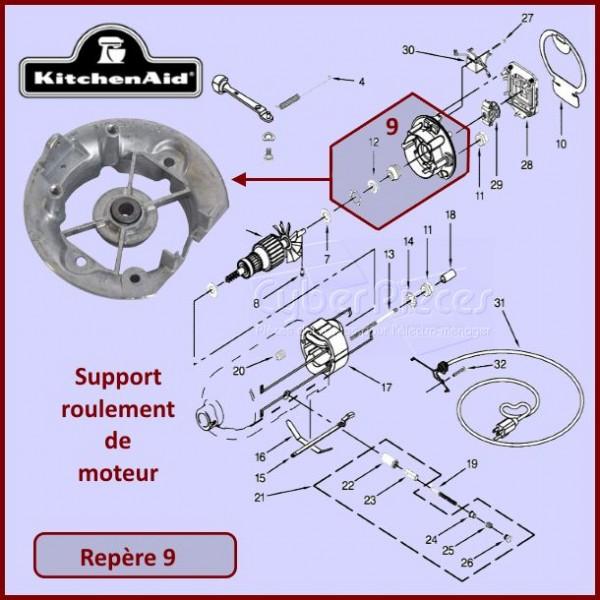 Support roulement moteur Kitchenaid 3180526