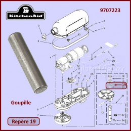 Goupille Kitchenaid 9707223 CYB-267069