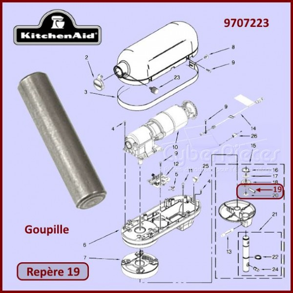 Goupille Kitchenaid 9707223
