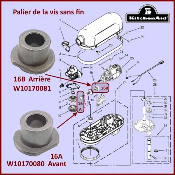 Palier avant Kitchenaid W10170080