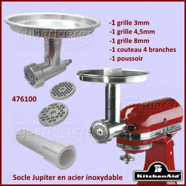 Kit complet hachoir en métal Jupiter Kitchenaid 476100