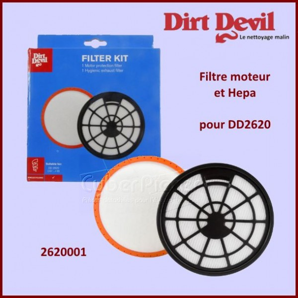 Kit filtres Ultima DD2620 Dirt Devil 2620001