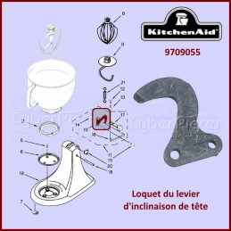 Loquet du levier d'inclinaison Kitchenaid 9709055 CYB-266277