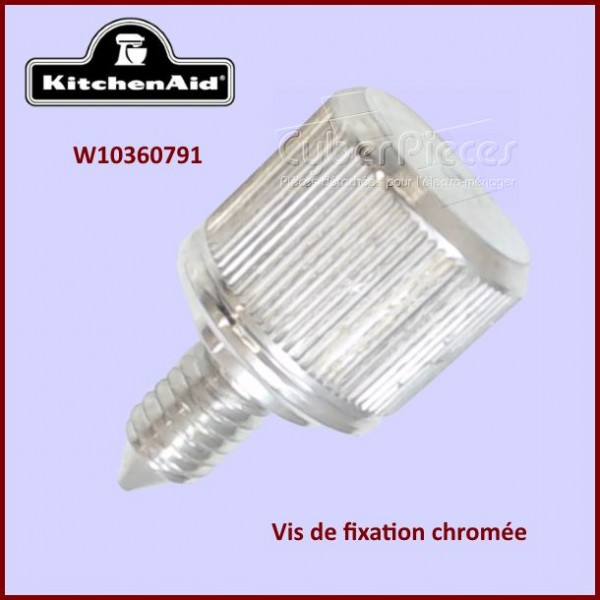 Vis chromée de fixation Kitchenaid W10360791