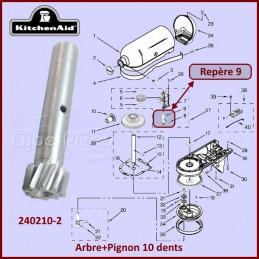 Tige avec pignon 10 dents Kitchenaid 2402102 CYB-115452