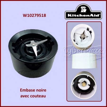 Embase noire Kitchenaid W10279518