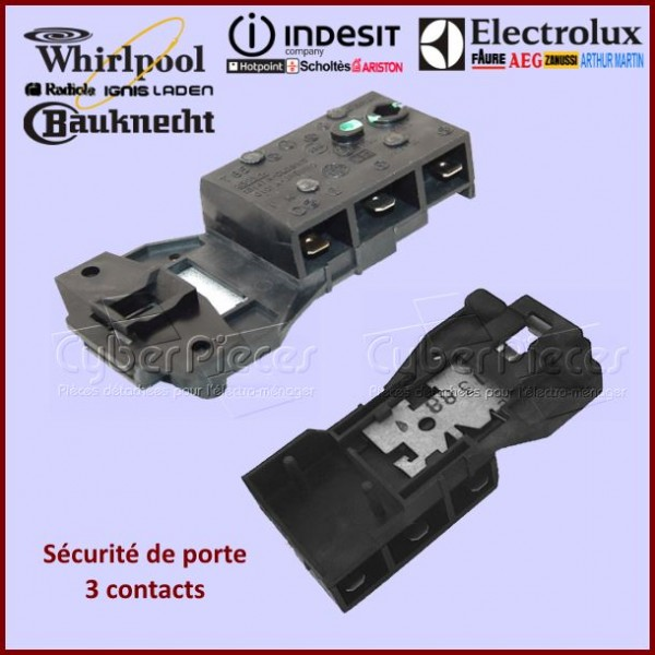 Sécurité de porte 3 contacts Indesit C00011140