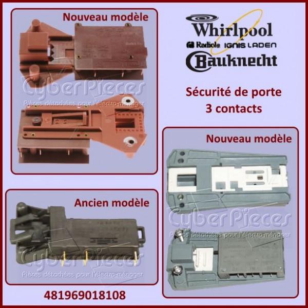 Sécurité de porte Whirlpool 481969018108