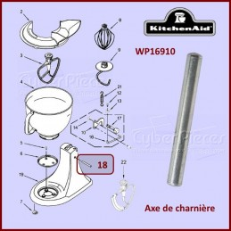 Axe de charnière Kitchenaid WP16910 CYB-265065