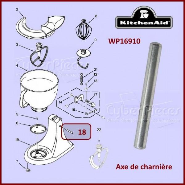 Axe de charnière Kitchenaid WP16910