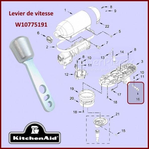 Levier de vitesse Kitchenaid W10775191