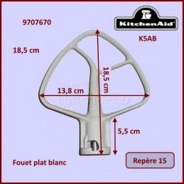 Mélangeur plat blanc K5AB Kitchenaid 9707670 CYB-022170