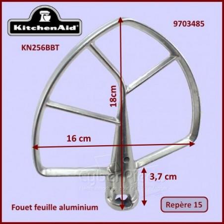 Mélangeur plat aluminium KN256BBT Kitchenaid 9703485