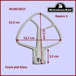 Mélangeur plat blanc K45B pour batteur Kitchenaid W10672617 CYB-019996