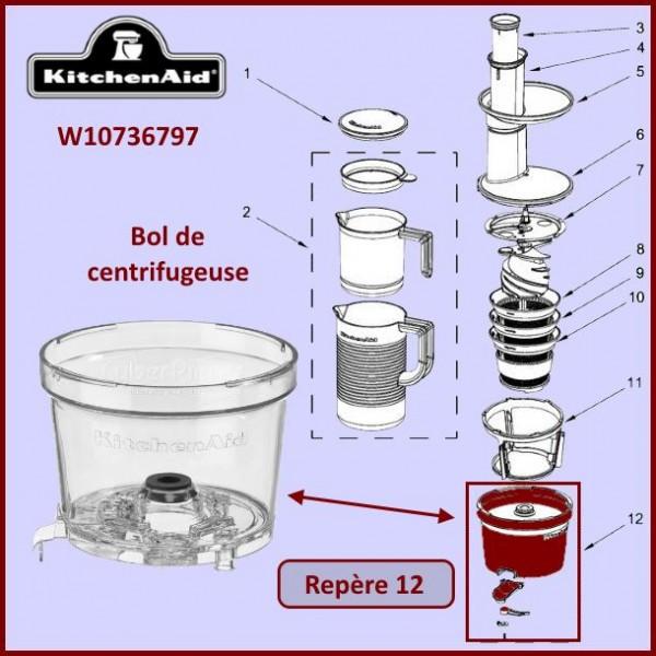 Bol de centrifugeuse Kitchenaid W10736797