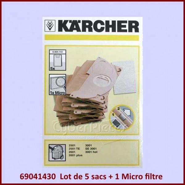 Lot de 5 sacs KARCHER  69041430