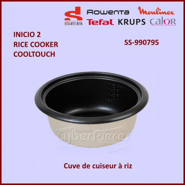 cuve de cuiseur riz seb ss 990795 pour robot menager cocotte autocuiseurs petit. Black Bedroom Furniture Sets. Home Design Ideas