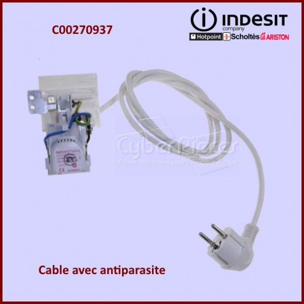 Cable d'alimentation + Antiparasite C00270937