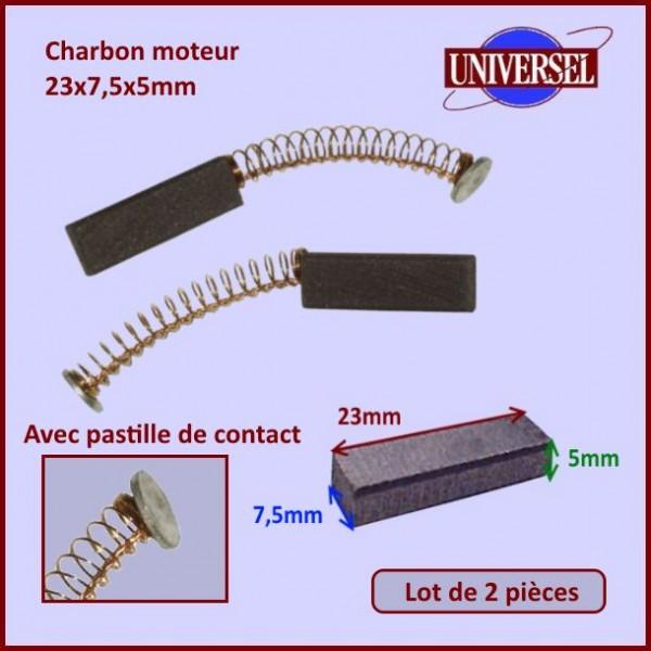 Charbon moteur 23x7,5x5mm
