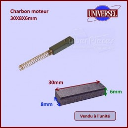 Charbon moteur 30x8x6mm CYB-218245