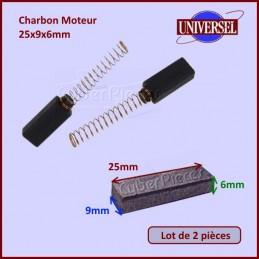 Charbon Moteur 25x9x6mm CYB-018371