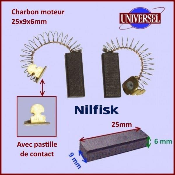 Charbon moteur 25x9x6mm Nilfisk BB26