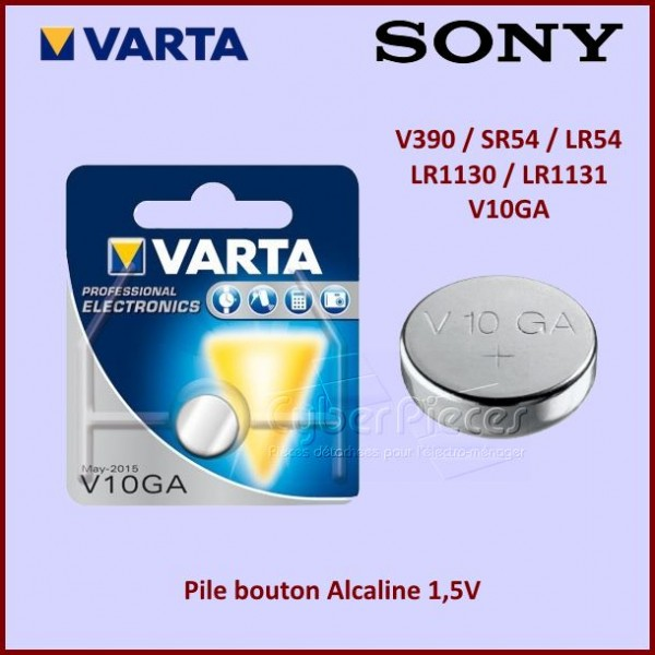 Pile bouton Alcaline 1,5V /  V390-SR54-LR54-LR1130-LR1131-V10GA