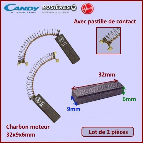 Charbon moteur 32x9x6mm  Candy 09090150