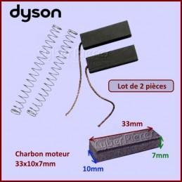Charbons moteur Dyson seul 33x10x7mm ( lot de 2) CYB-036252