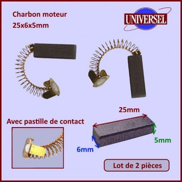 Charbon moteur 25x6x5mm