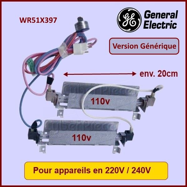 Résistance de dégivrage adaptable GE WR51X397