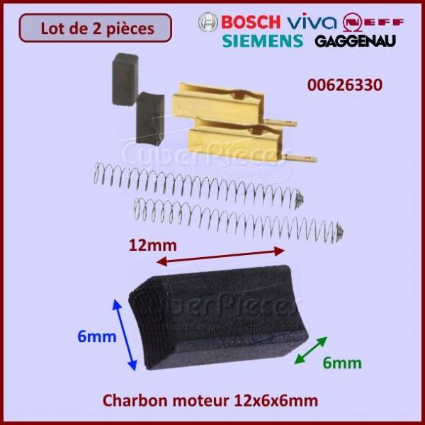 Charbon moteur avec support 12x6x6mm