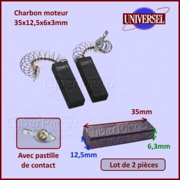 Charbon moteur 35x12,5x6,3mm Aeg 8996454250953 CYB-008358