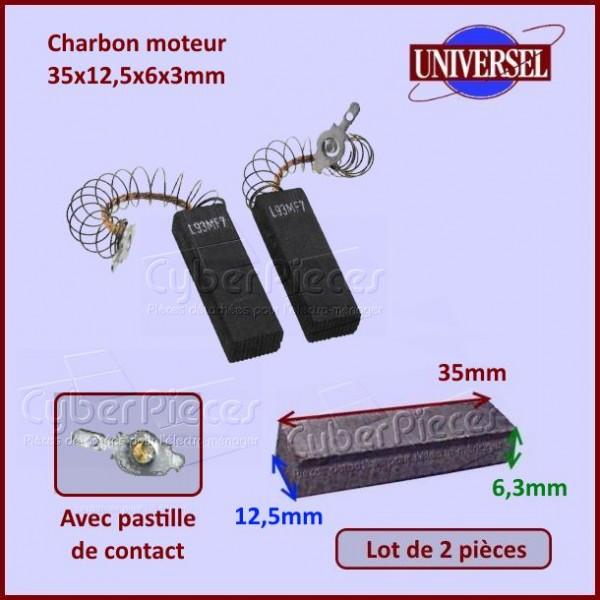 Charbon moteur 35x12,5x6,3mm Aeg 8996454250953 BB39