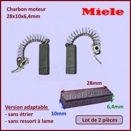 Charbon moteur 28x10x6,4mm *Adaptable* Miele 3320630 CYB-008594