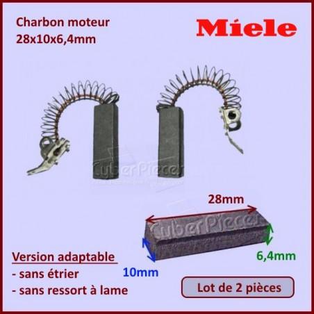 Charbon moteur 28x10x6,4mm *Adaptable* Miele 3320630