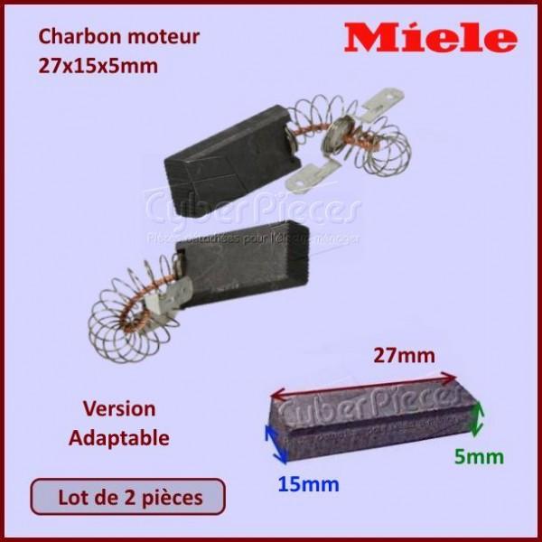 Charbon moteur 27x15x5mm *Adaptable* Miele 1689370