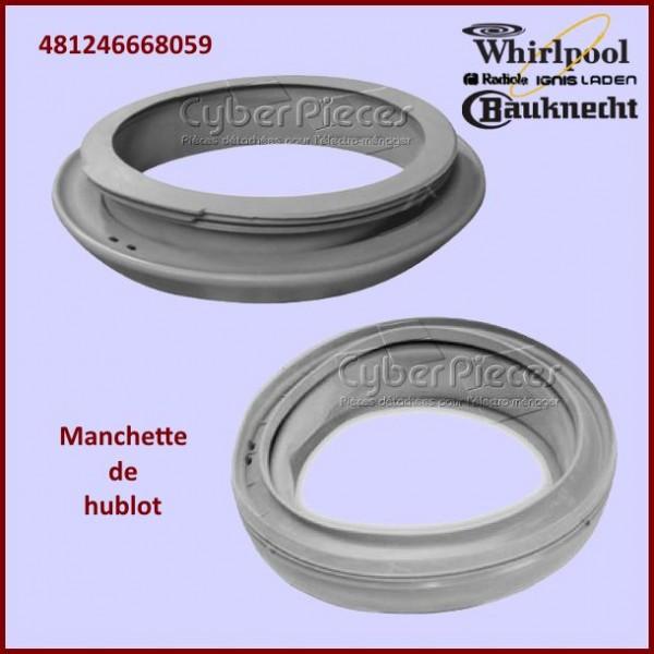 Manchette de hublot Whirlpool 481246668059