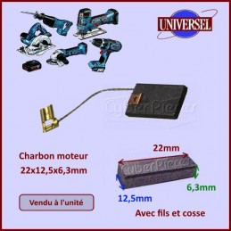Charbon moteur 22x12,5x6,3mm CYB-036726