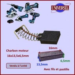 Charbon moteur 16x13,5x6,5mm Makita CB155 CYB-036757