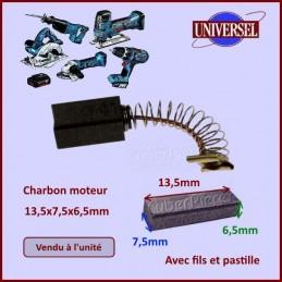 Charbon moteur 13,5x7,5x6,5mm Hitachi 999041 CYB-178778