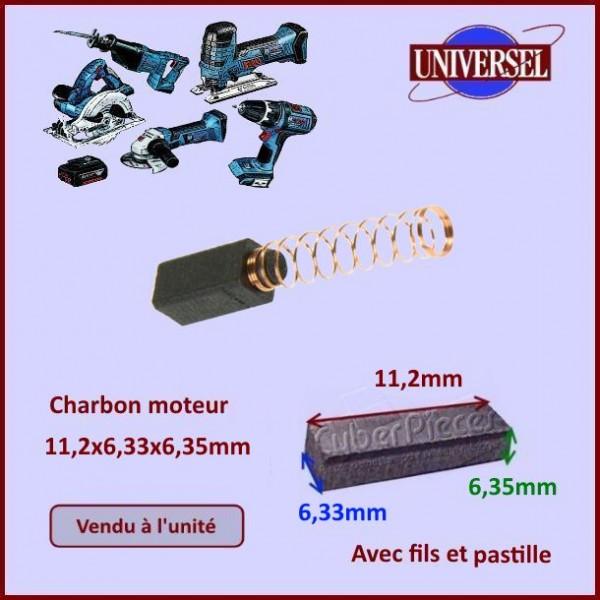 Charbon moteur 11,2x6,33x6,35mm Black & Decker 915068-01