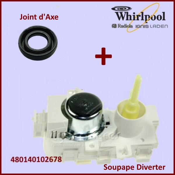 soupape diverter whirlpool 481010745146 mdv8201 mdv8202 pour pompe de cyclage turbine lave. Black Bedroom Furniture Sets. Home Design Ideas