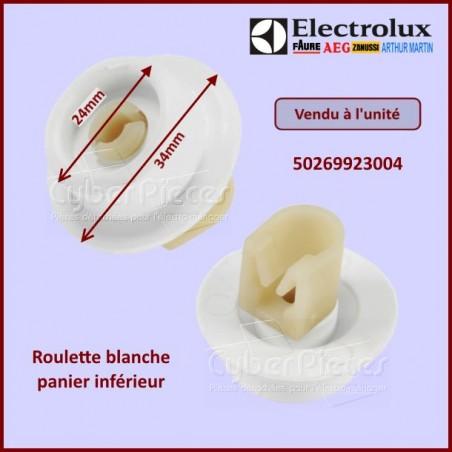 Roulette Blanche De Panier Inférieur Electrolux 50269923004