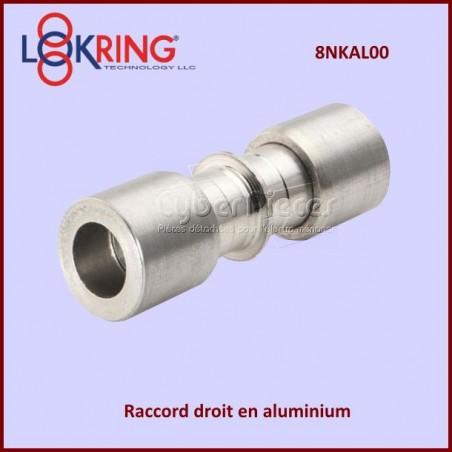 Raccord droit  LOKRING 8NKAL00 en aluminium